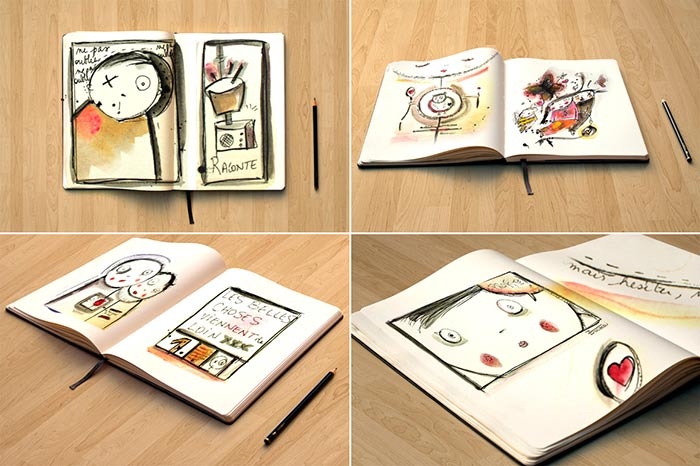Illustrations aquarelle acrylique